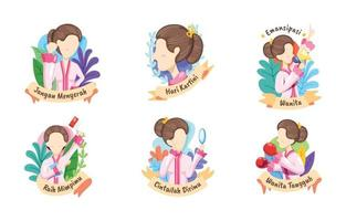 kartini day stickercollectie