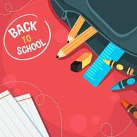 terug naar de achtergrond van het schoolonderwijs vector