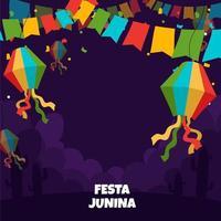 fiesta junina achtergrond vector