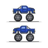monster auto op witte achtergrond vector