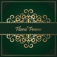 luxe gouden decoratieve bloemenkaderachtergrond vector