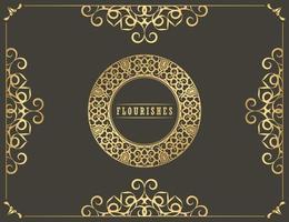 vintage sieraad vector wenskaartsjabloon. retro huwelijksuitnodiging, reclame of ander ontwerp en plaats voor tekst. bloeit sierlijst