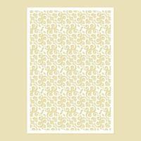 naadloze gestanst decoratief patroon sjabloon vector