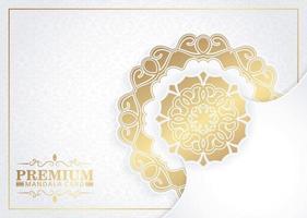 elegant wit mandala-concept als achtergrond vector