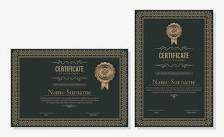 prestatie certificaatsjabloon in vintage stijl vector