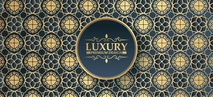 luxe donkere ornament patroon ontwerp achtergrond vector