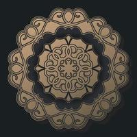 luxe donkere mandala achtergrond ontwerpsjabloon vector