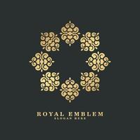 luxe ornament stijl lijntekeningen logo vector