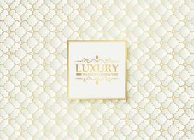 luxe witte ornament patroon ontwerp achtergrond vector
