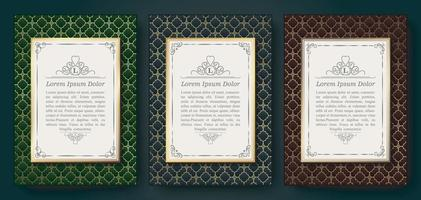 luxe geometrische patroon flyer tekstontwerp vector