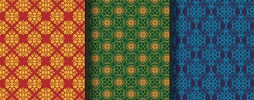 verzameling van naadloze sier etnische patronen vector