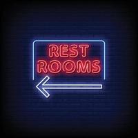 toilet neonreclames stijl tekst vector