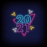 2021 neonreclamestijl tekst vector