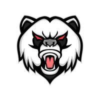 boos panda hoofd vector