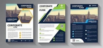 brochureontwerp, omslag moderne lay-out, jaarverslagset vector
