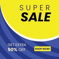 super verkoop banner sjabloonontwerp vector