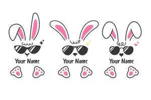 vector konijntje set