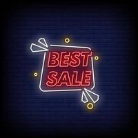 beste verkoop neonreclames stijl tekst vector
