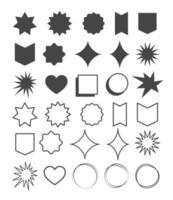 geometrische vormen element ontwerpset. symbool met vorm en lijn geometrisch ontwerp.