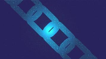 digitaal blockchain-concept op violette technologieachtergrond