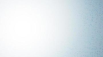 witte en blauwe microchip op technologieachtergrond, hi-tech en veiligheidsconceptontwerp vector