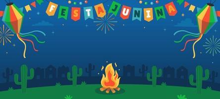 festa junina festival achtergrond vector