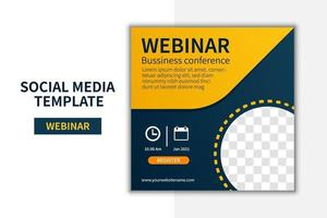 creatief webinar social media post sjabloon conceptontwerp. online marketing promotie banner ontwerp vector