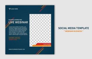 creatieve moderne live webinar social media postsjabloon. online marketingpromotie. webbanner bedrijfsconcept ontwerp vector