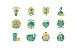 aarde dag pictogramserie vector