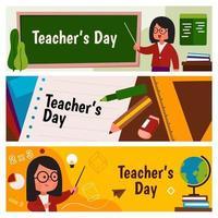 leraar dag banner vector