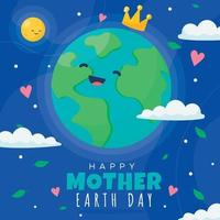 schattige gelukkige aarde dag achtergrond vector