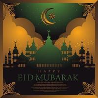 gelukkig eid mubarak-concept vector