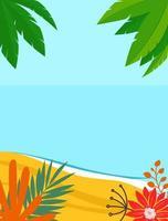 zomer landschap achtergrond met kopie ruimte voor tekst