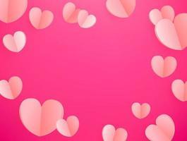 vector achtergrond van roze harten. sjabloon voor wenskaart, omslag, presentatie