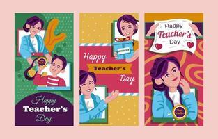 gelukkige lerarendagvieringsbanner vector