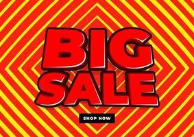 grote verkoop banner sjabloonontwerp. vector