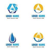 waterdruppel logo sjabloon vector illustratie ontwerp
