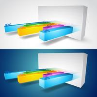 3D-grafiek vector