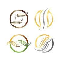 haar logo en symbool vector icon set