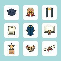 het voorbereiden van afstuderen aan de universiteit vector