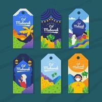 kleurrijke eid mubarak vector