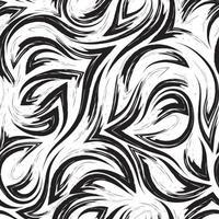 zwarte vector geometrische naadloze patroon uit hoeken van vloeiende lijnen en golven geïsoleerd op een witte achtergrond. water- of zeestroomtextuur.