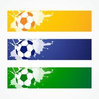 voetbal headers vector
