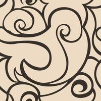 naadloze beige vector patroon van spiralen en golven. textuur voor textiel en verpakking.