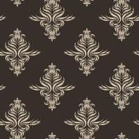 beige vector naadloze patroon. textuur voor stoffen of verpakkingen in bruine kleur met florale elementen