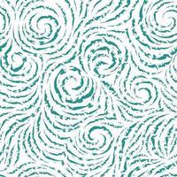 naadloze vector turquoise patroon van gebroken lijnen in de vorm van cirkels en spiralen. blauwe textuur voor het afwerken van stoffen of inpakpapier op een witte achtergrond