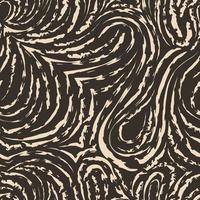 naadloze beige vector patroon van vloeiende en gebroken lijnen in de vorm van lussen en bogen. bruine textuur voor decoratie van stoffen of inpakpapier.
