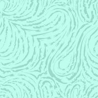 naadloze turquoise vector patroon van vloeiende en gebroken lijnen in de vorm van lussen en bogen. blauwe textuur voor decoratie van stoffen of inpakpapier.