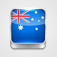 vlag van Australië vector