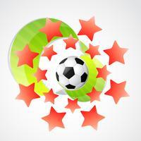 creatieve achtergrond van voetbal vector